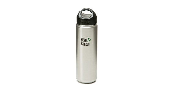 Klean Kanteen Wide Drinkfles met RVS Loop Cap, 800 ml grijs